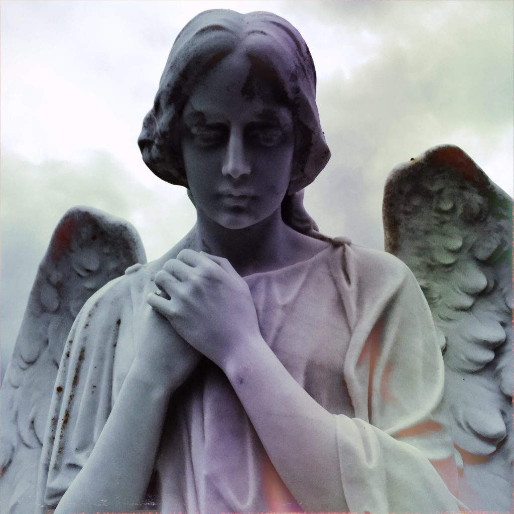An angel at the Colma necropolis - copyright David Quitmeyer