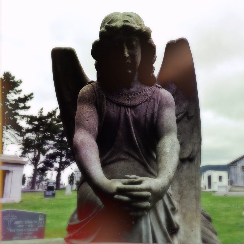 Angel headstone at the Colma necropolis - copyright David Quitmeyer